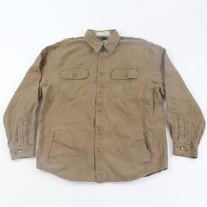 Carhartt Weathered Canvas Flannel Lined Shirt Jack
